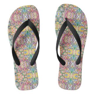 Circles Multicolored Women's Summer Flip Flops