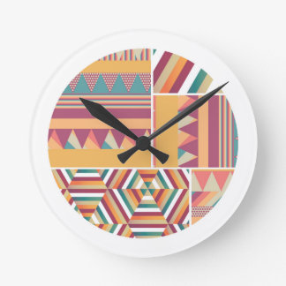 Circles of Color Round Clock