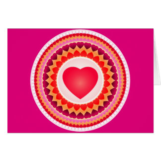 Circles of Hearts Card