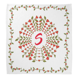 Circles of Love Hearts Bloom on Bandana