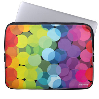 Circles of the Rainbow Laptop Sleeve
