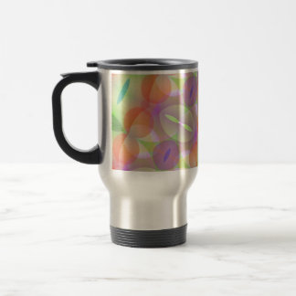 Circles Ovals Multicolored Fractal Travel Mug
