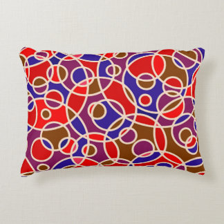 Circles Pattern Abstract Red Accent Pillow