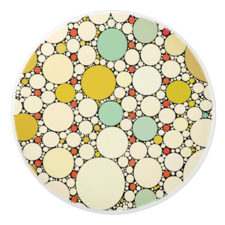 Circles pattern cabinet knobs