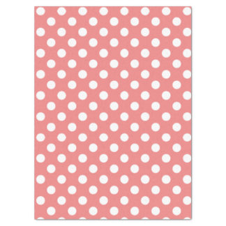 Circles Pattern Light Coral Tissue Paper