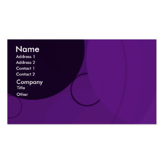Circles Purple Background Business Card