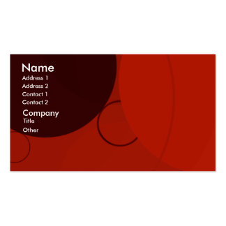 Circles Purple Red Background Business Card