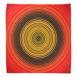 Circles - Red Yellow Black Bandana