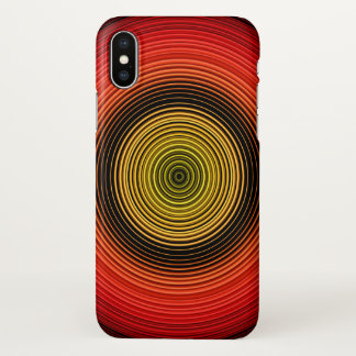 Circles - Red Yellow Black iPhone X Case