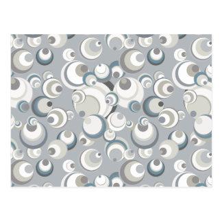 Circles & Spheres Grey White & Blue Postcard