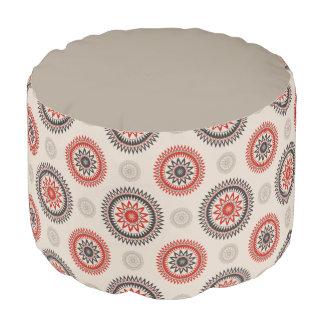 CIRCLES Spun Polyester Round Pouf