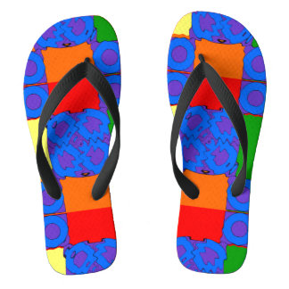 Circles Squares and Rectangles Flip Flops