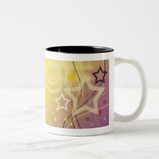 Circles & Stars! Two-Tone Coffee Mug