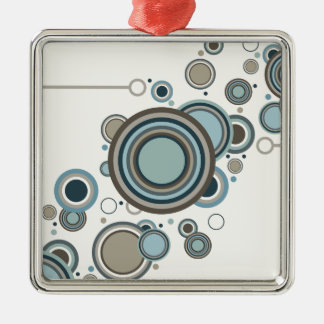 Circles Streaming Metal Ornament