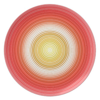 Circles - Tomato Colors Plate