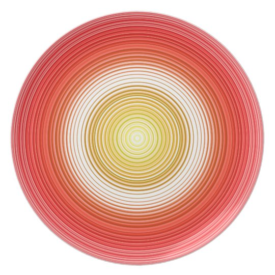 Circles - Tomato Colours Plate
