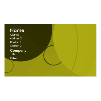 Circles Yellow Background Business Card