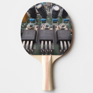 Circuit2 Ping Pong Paddle, Red Rubber Back Ping Pong Paddle
