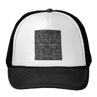Circuit Black And White Trucker Hat