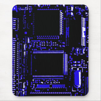Circuit Blue mouspad portrait Mouse Pad