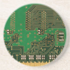 circuit board background coaster
