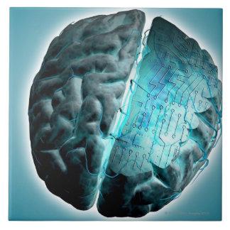 Circuit Board Brain 2 Ceramic Tile