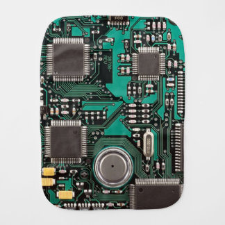 Circuit board burp cloth