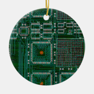 Circuit Board Ceramic Ornament