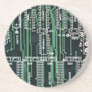 Circuit board design beverage coasters
