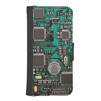 Circuit board iPhone SE/5/5s wallet case