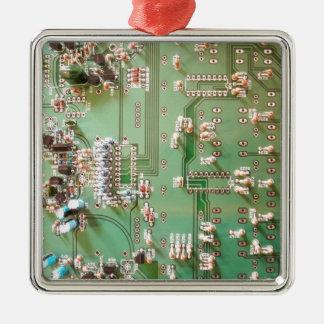 Circuit Board Metal Ornament