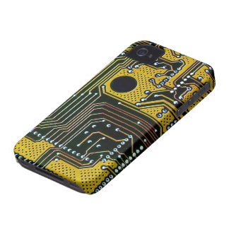 Circuit board (pcb) - gold color iPhone 4 cover