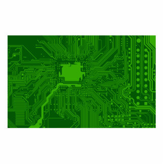Circuit Board Photo Cut Out