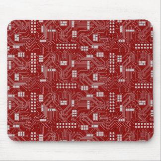Circuit board red mousepad