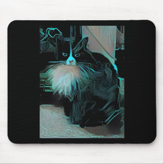 Circuit Cat Mouse Pad