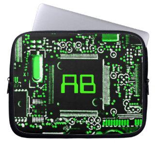 "Circuit Green 2 monogram laptop sleeve 10"""