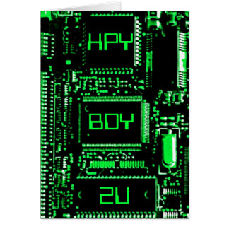 Circuit Green 'HPY BDY 2U' birthday card