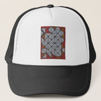 Circuit grid trucker hat