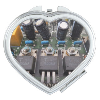 Circuit Heart Compact Mirror