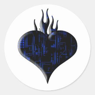 Circuit Love Classic Round Sticker