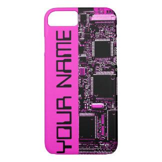 Circuit Pink Name iPhone 7 case pink