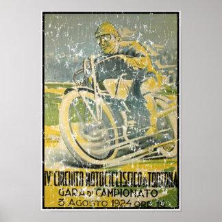 Circuito Motociclistico-1924 - distressed Poster