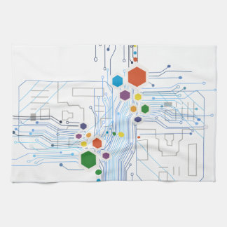 Circuitry Hand Towels