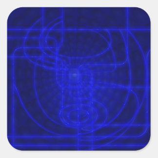 Circuits de néon de la science fiction sticker carré