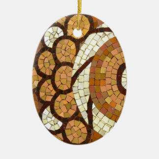 circul mosaic ceramic oval ornament
