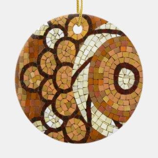 circul mosaic round ceramic ornament