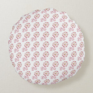 Circular Autumn Flower Pillow