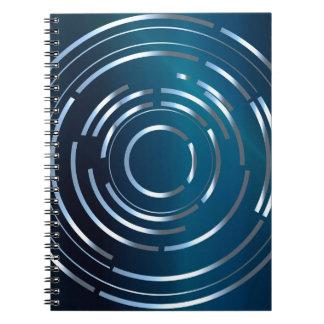 Circular Background Notebook