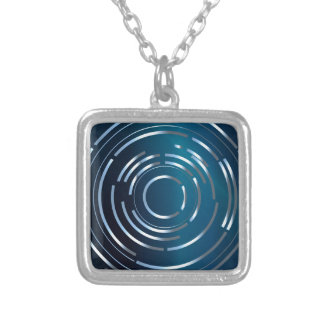Circular Background Silver Plated Necklace