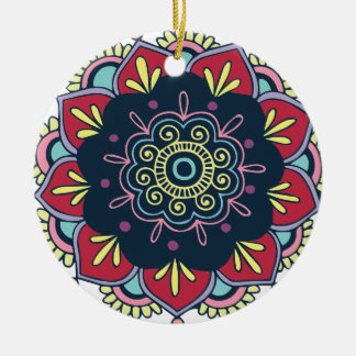 circular ceramic ornament